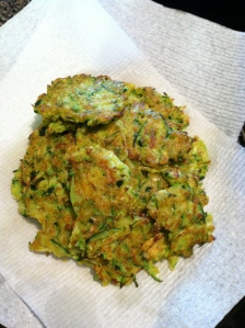 Plate of Zucchini Fritters